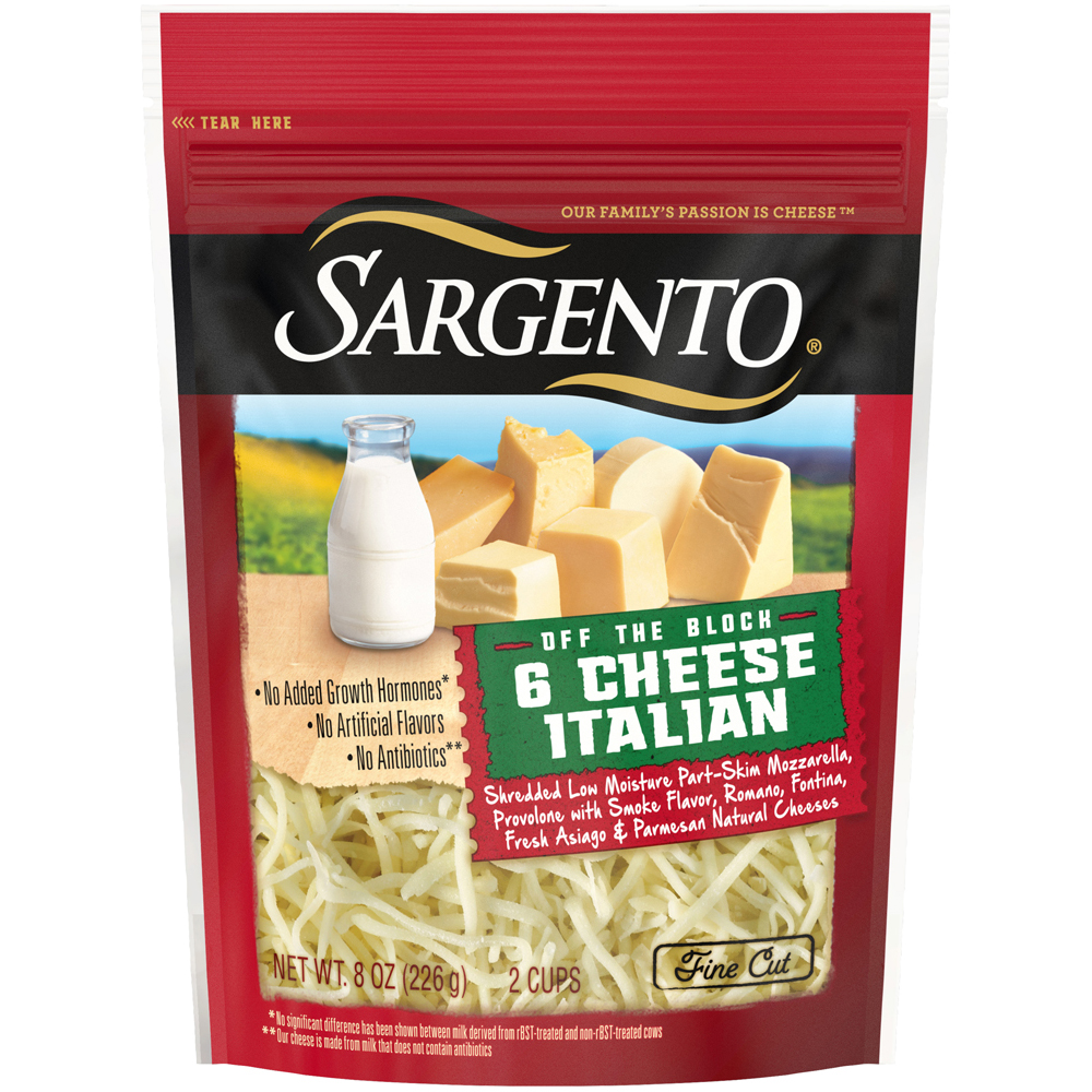 Sargento Shreds 6 cheese Italian