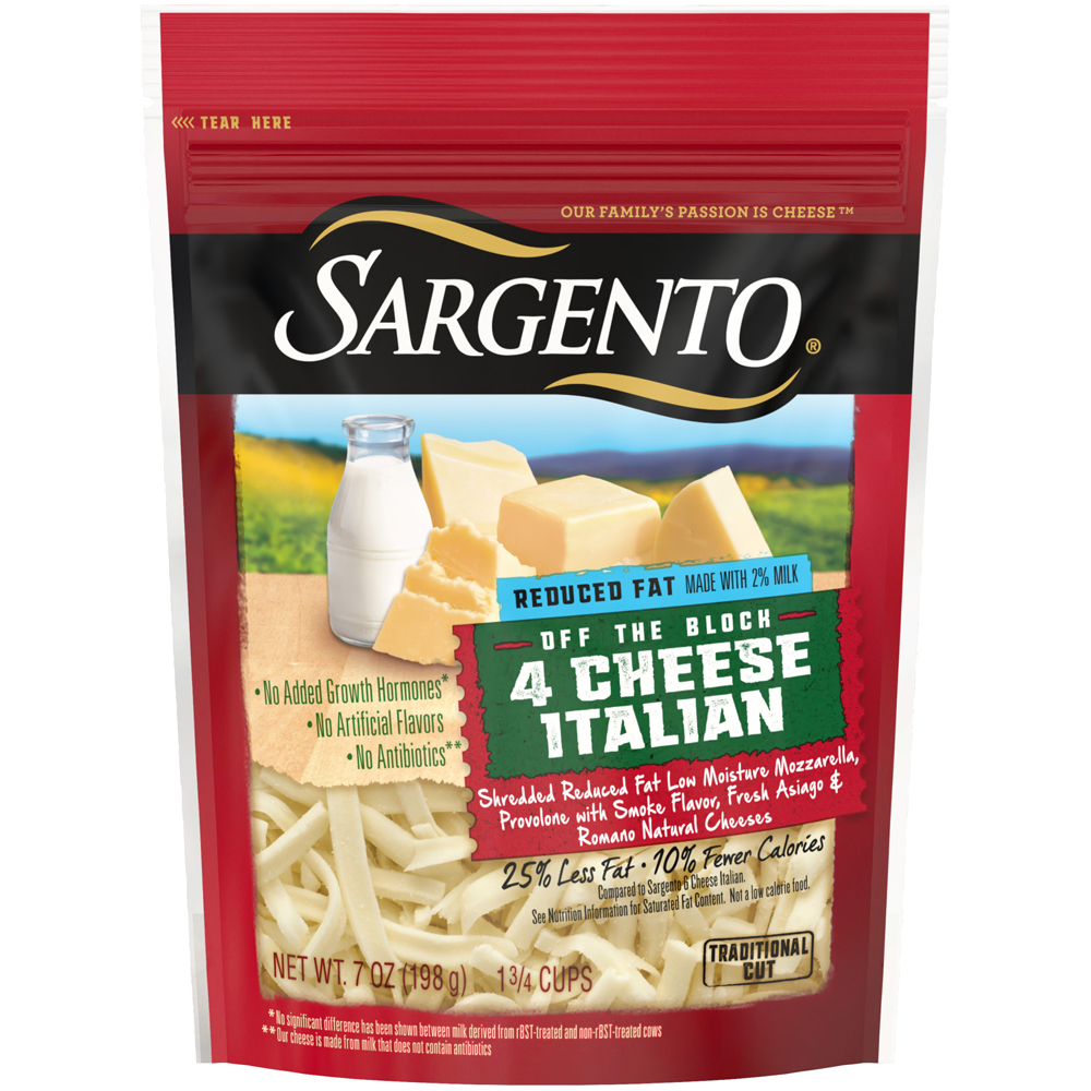 Sargento Shreds Reduced Fat Italian 4 Cheese