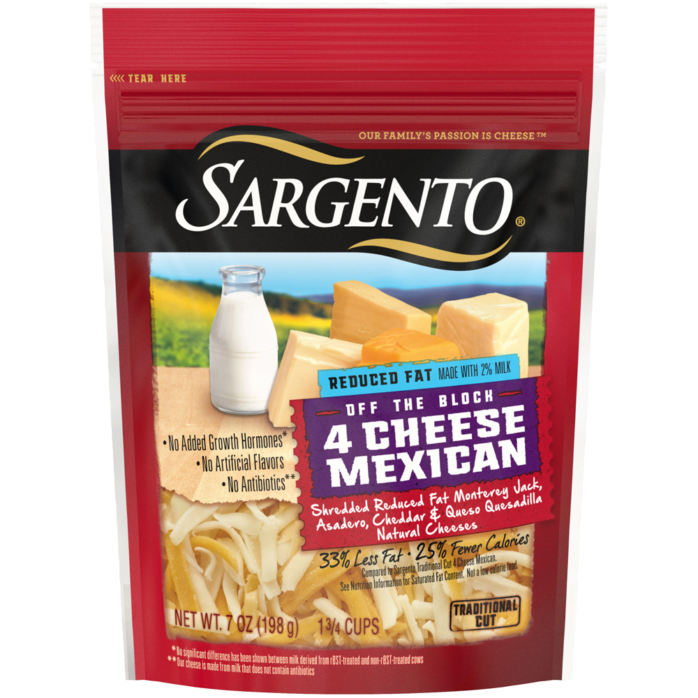 Sargento Shreds Reduced Fat 4 Cheese Mexican