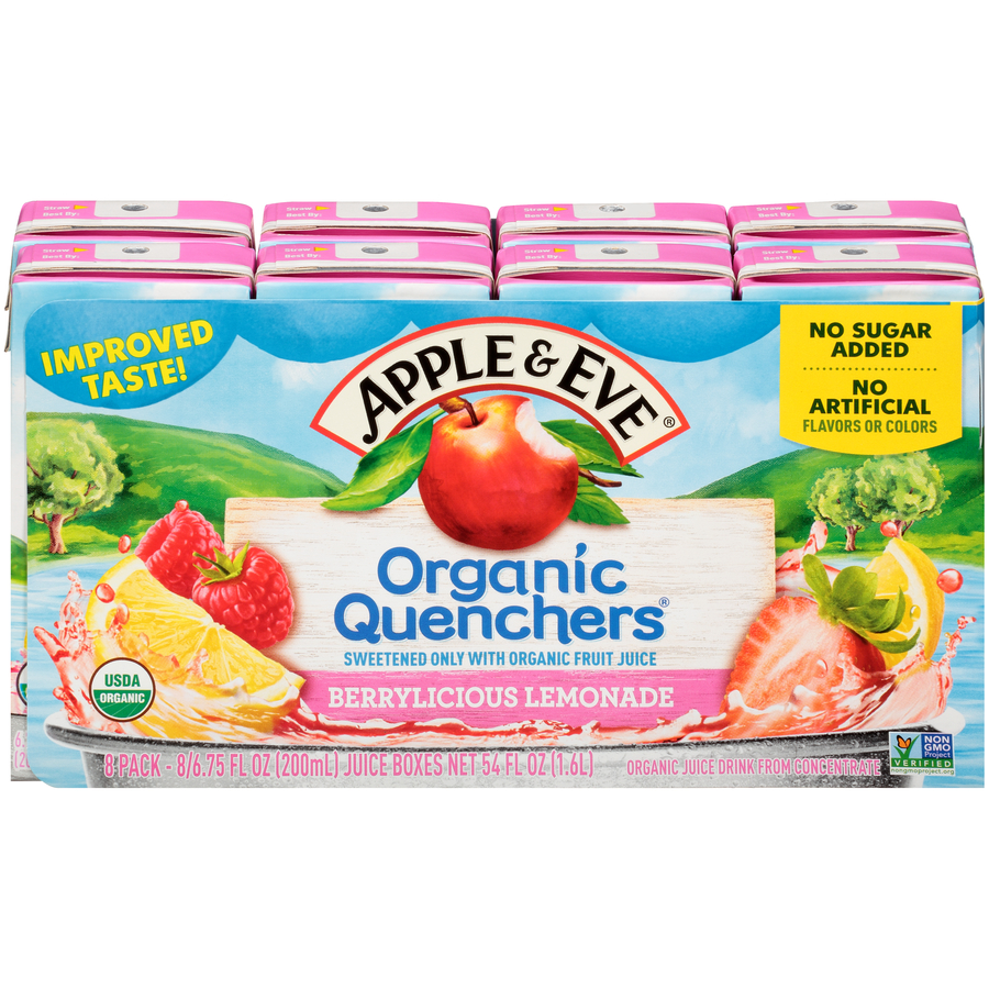 Organic Quenchers Lemonade 8 pack