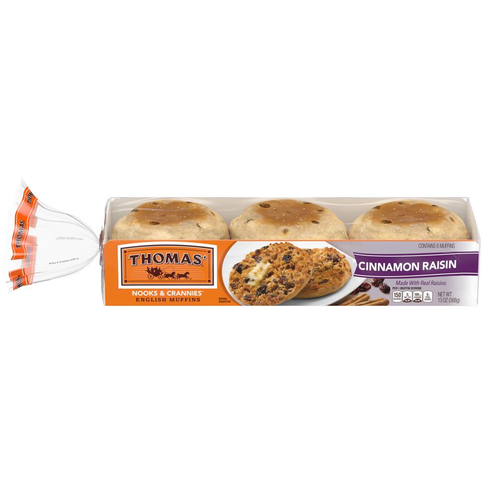 Thomas' Hearty English Muffins Cinnamon Raisin
