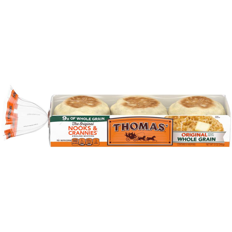 Thomas' English Muffins Whole Grain