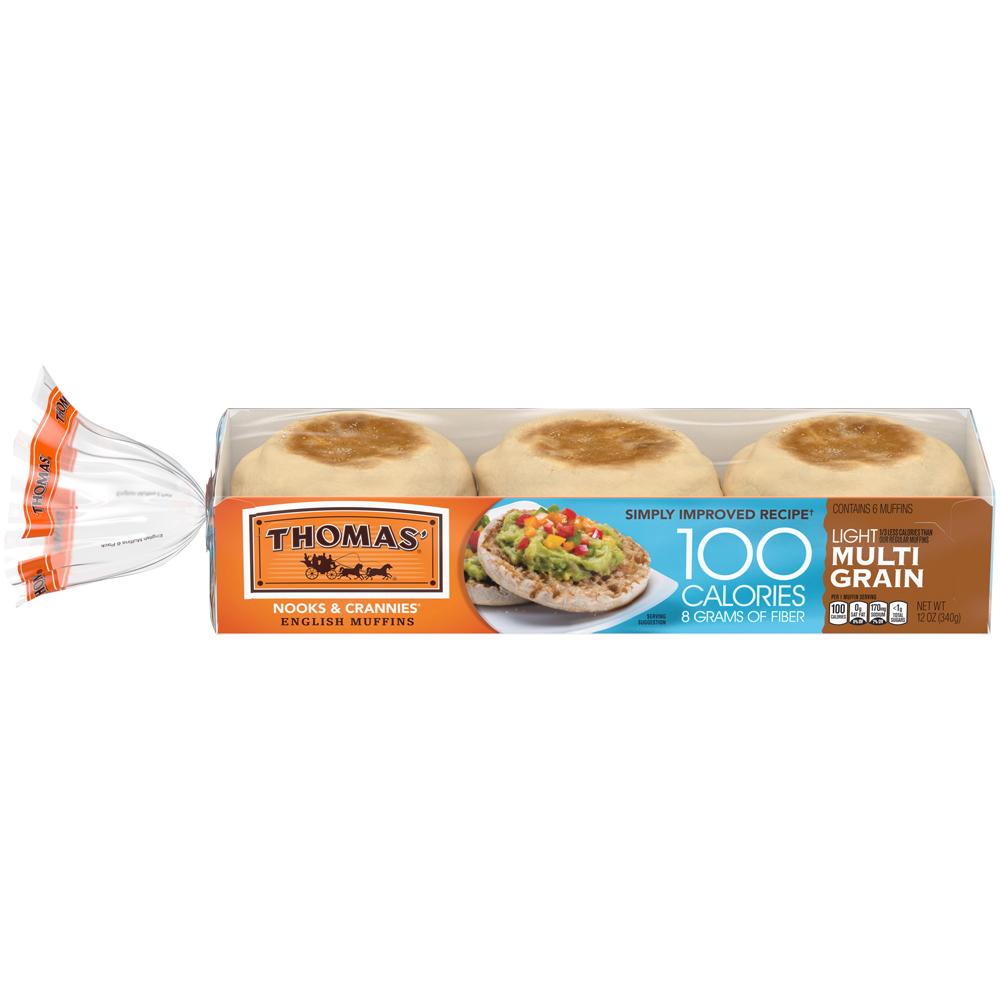 Thomas' English Muffins Light Multi-grain