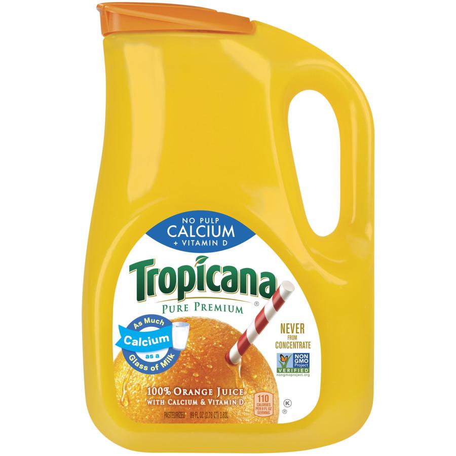 Tropicana Orange Juice Calcium