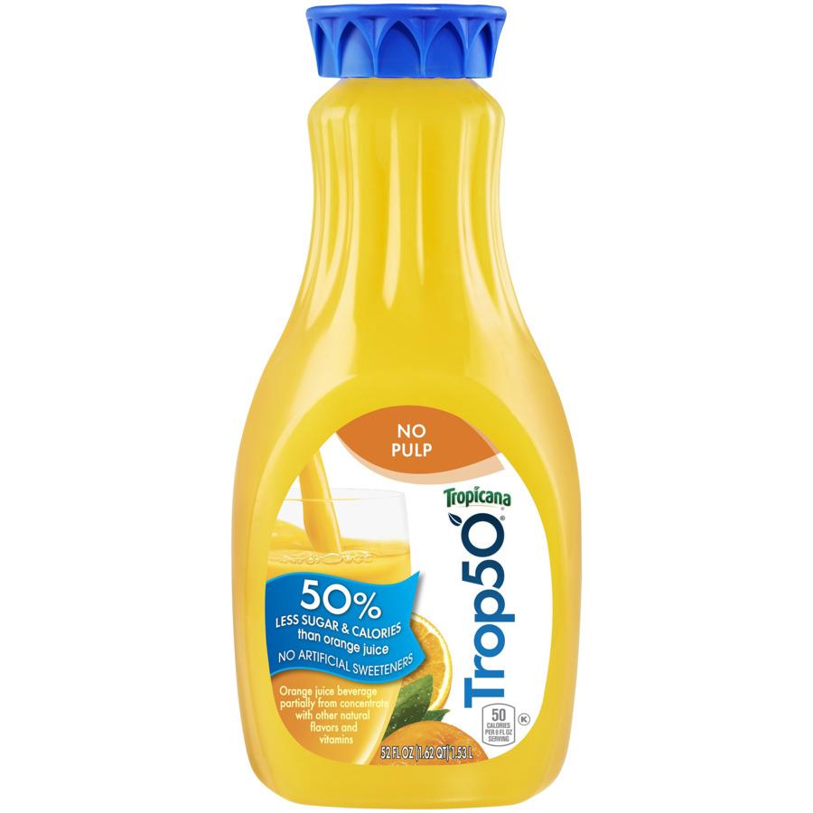 Tropicana 50 Orange Juice No Pulp