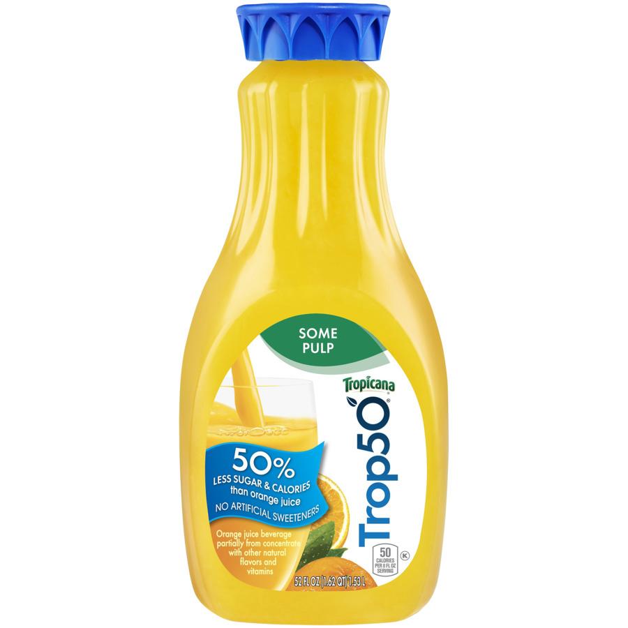 Tropicana 50 Orange Juice Some Pulp