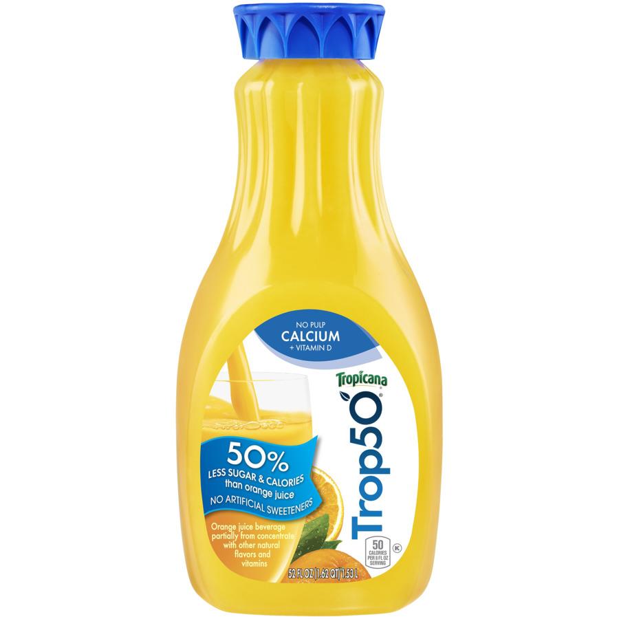 Tropicana 50 Orange Juice No Pulp with Calcium
