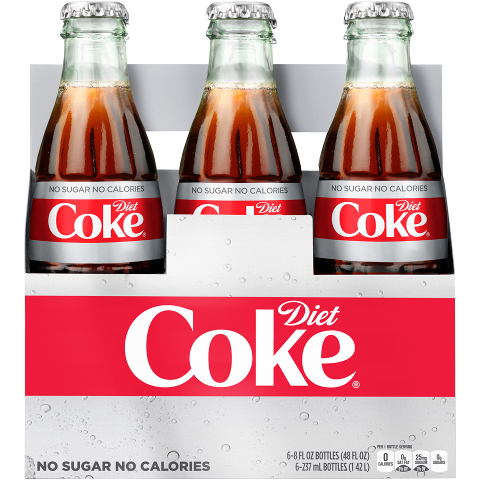 Diet Coke Glass Bottles 6pk