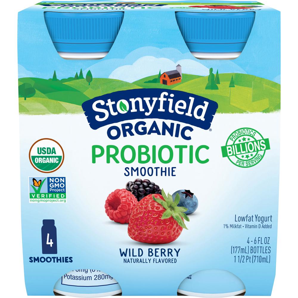 Stonyfield 4Pk Smoothie Wild Berry