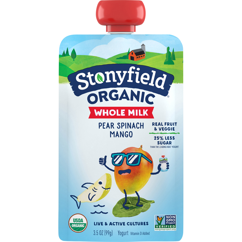 Stonyfield Pear Spinach Pouch