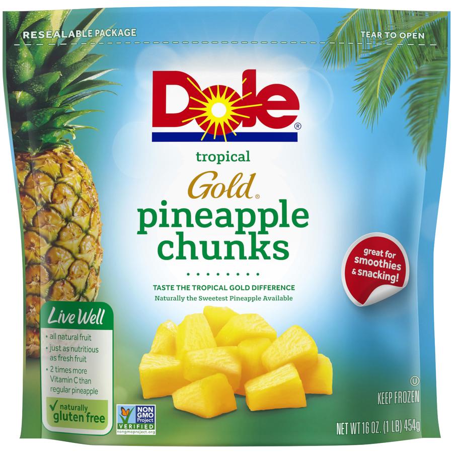 Dole Frozen Pineapple Chunks