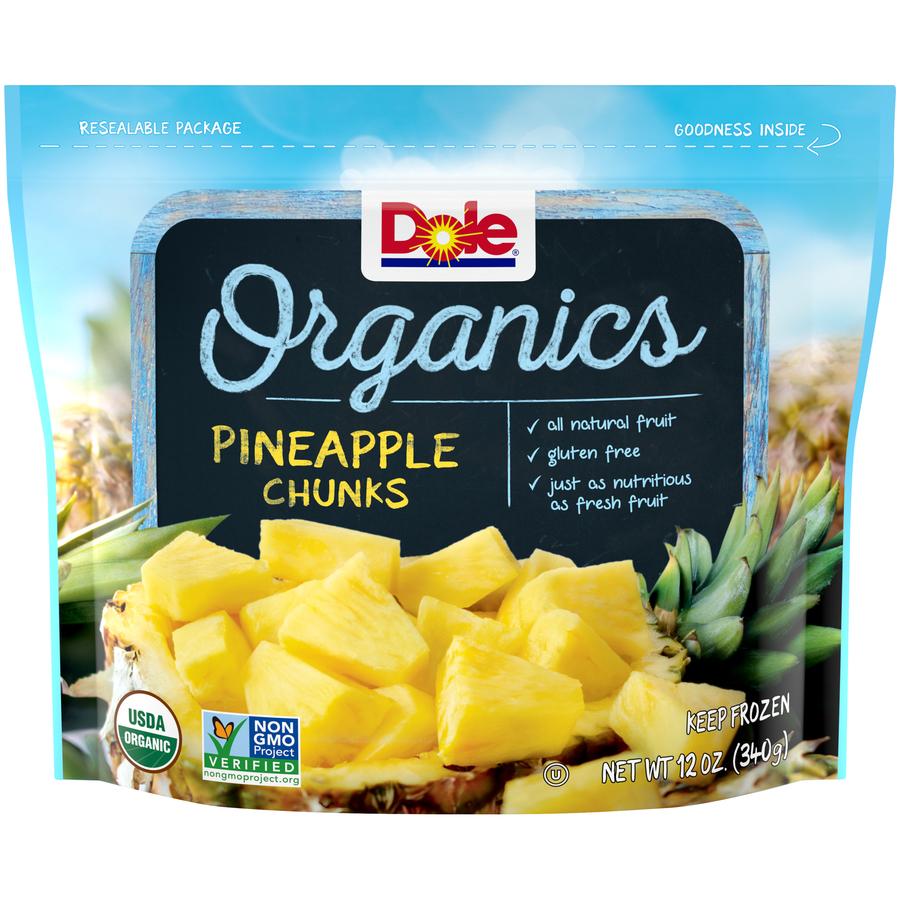 Dole Organic Pineapple Chunks