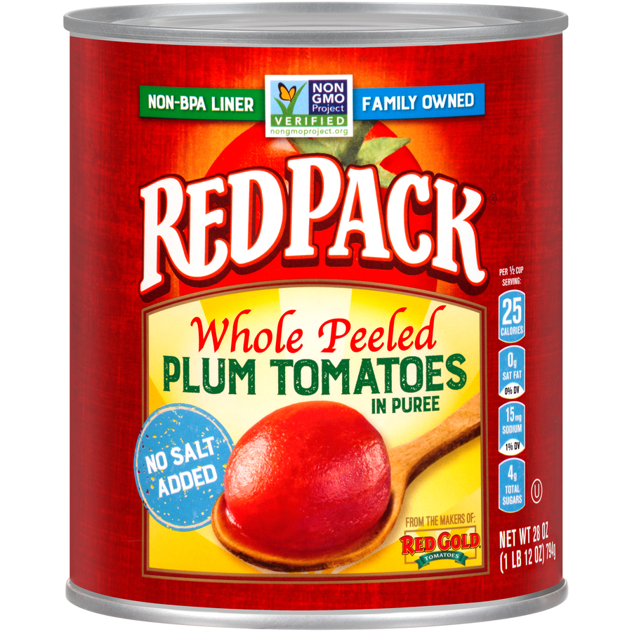 Redpack Whole Peeled No Salt Added
