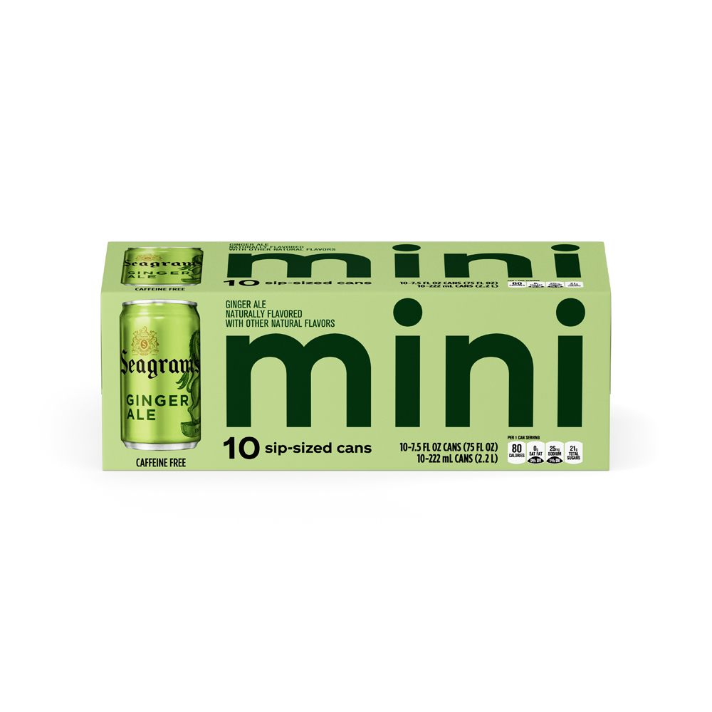 Seagrams Gingerale Mini 10 pk
