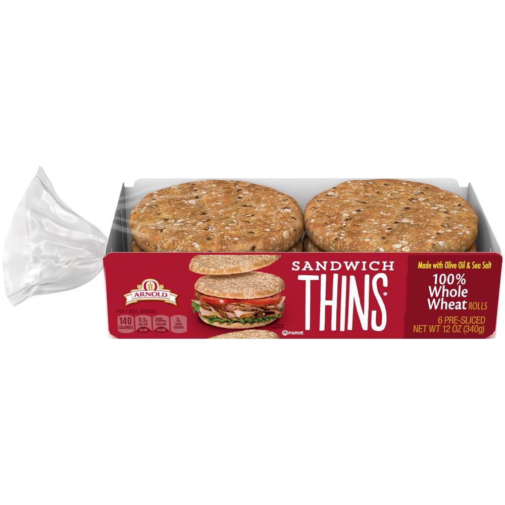 Arnold Sandwich Thins Whole Wheat
