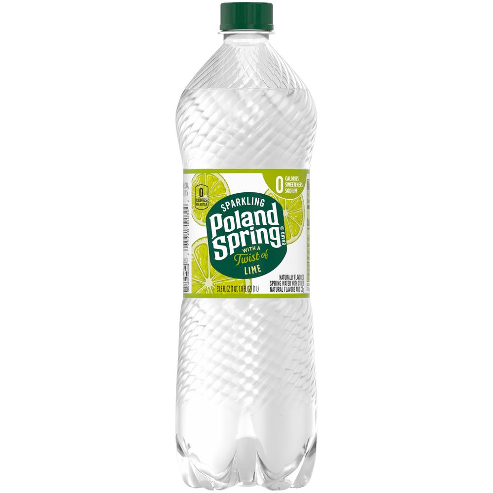 Poland Spring Sparkling Lime 1 liter