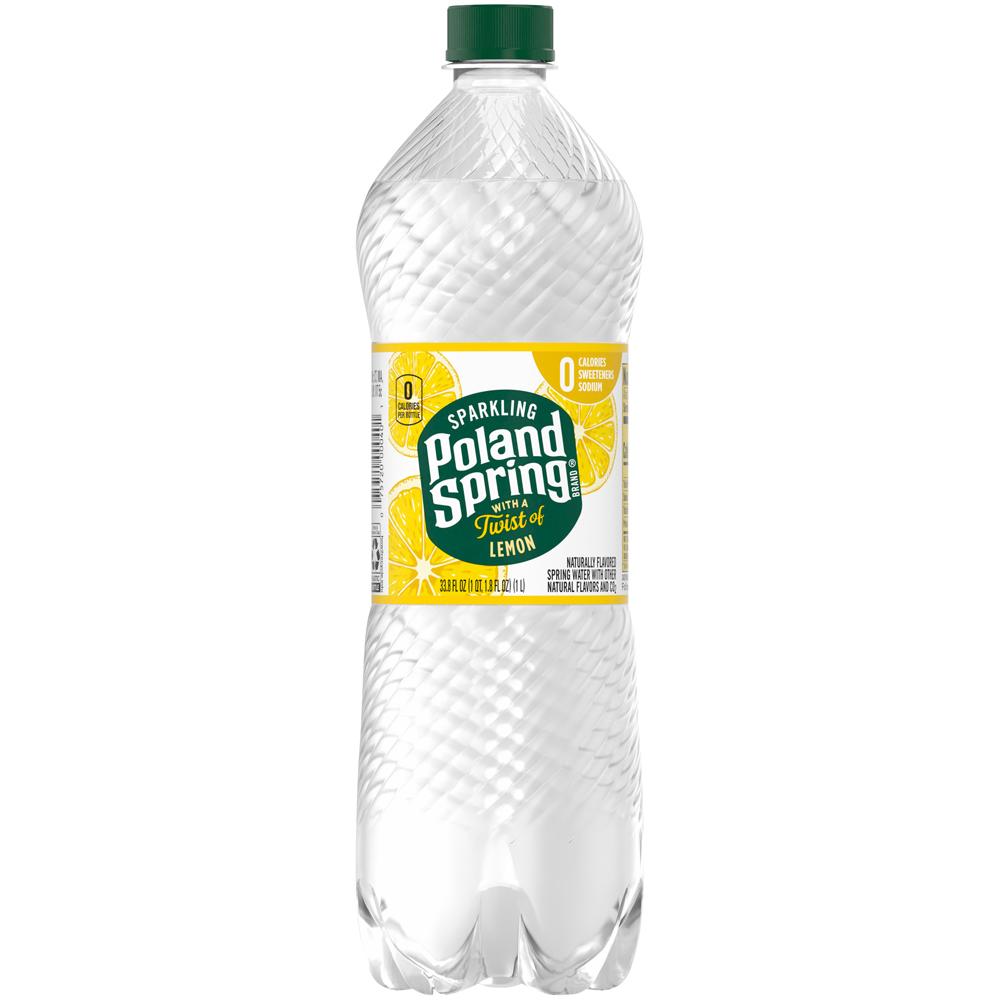 Poland Spring Sparkling Lemon 1 liter