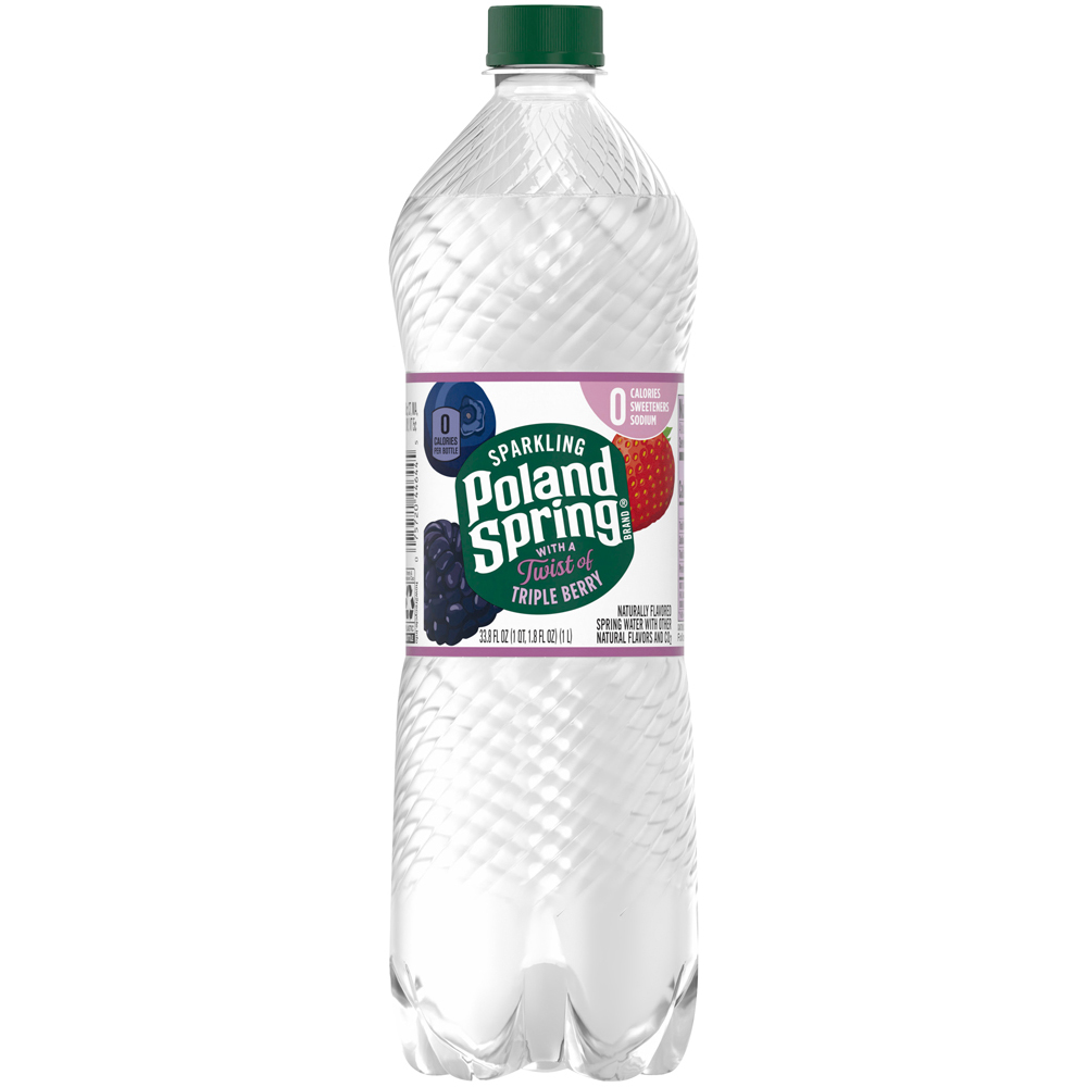 Poland Spring Sparkling Triple Berry 1 liter