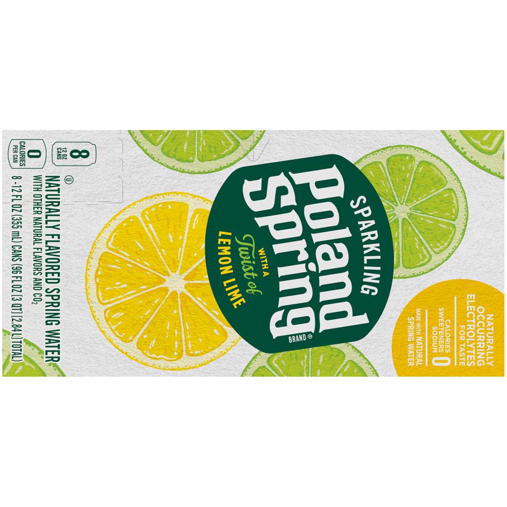 Poland Spring Sparkling Lemon Lime 8pk-12 fl oz