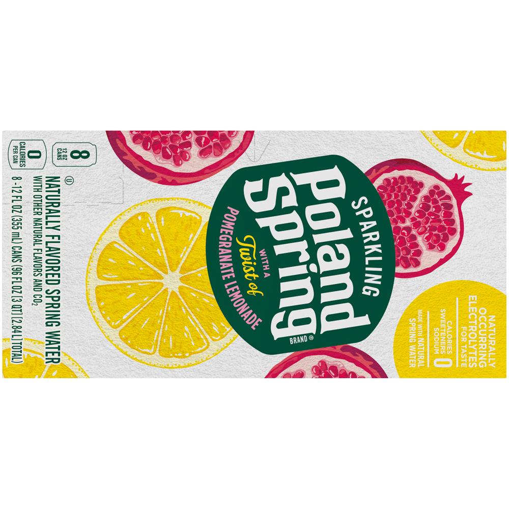 Poland Spring Sparkling Pomegrante Lemon 8pk-12 fl oz