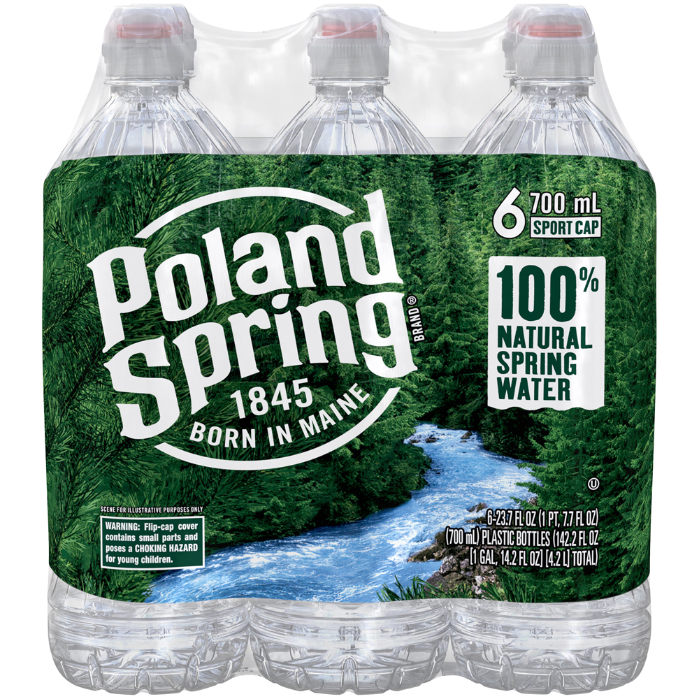 Poland Spring Water 6pk-1 liter
