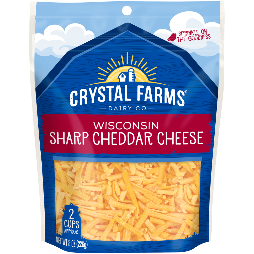 Crystal Farms Shreds Wisconsin Sharp Cheddar