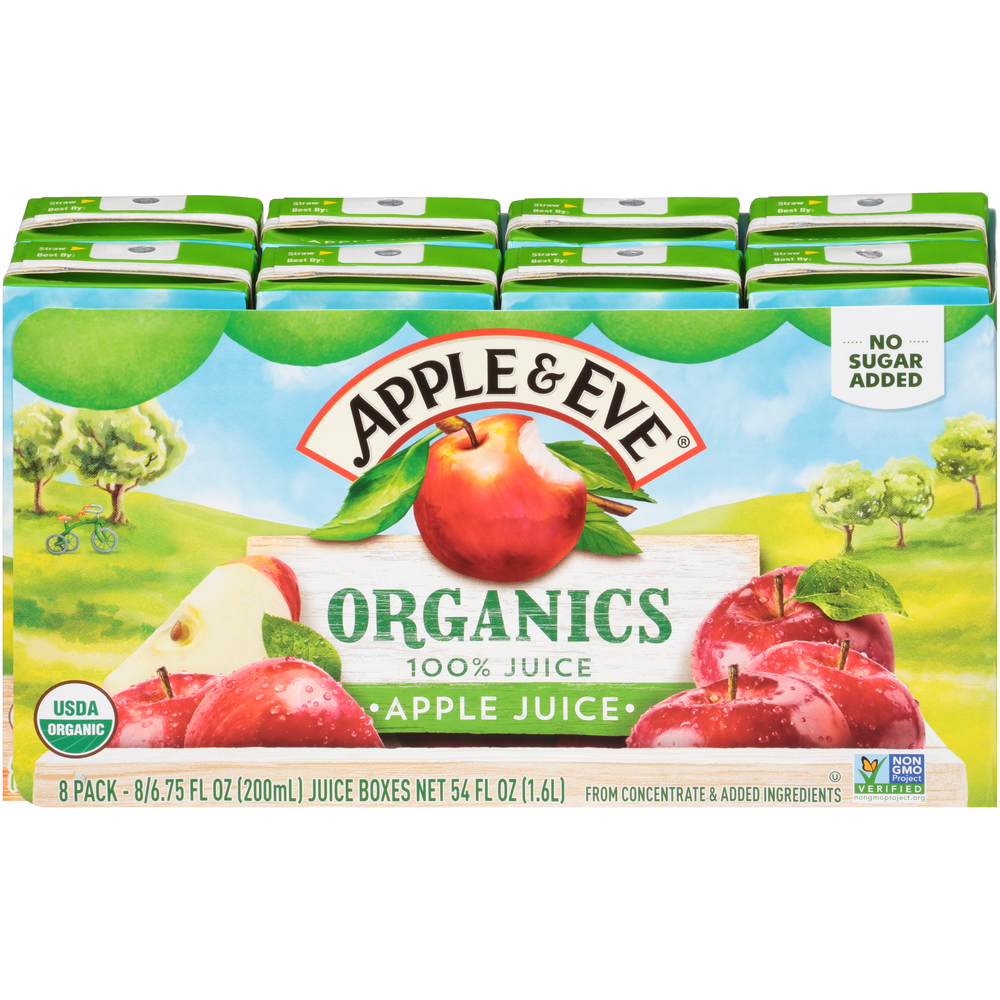 Organic 100% Apple Juice 8 pack