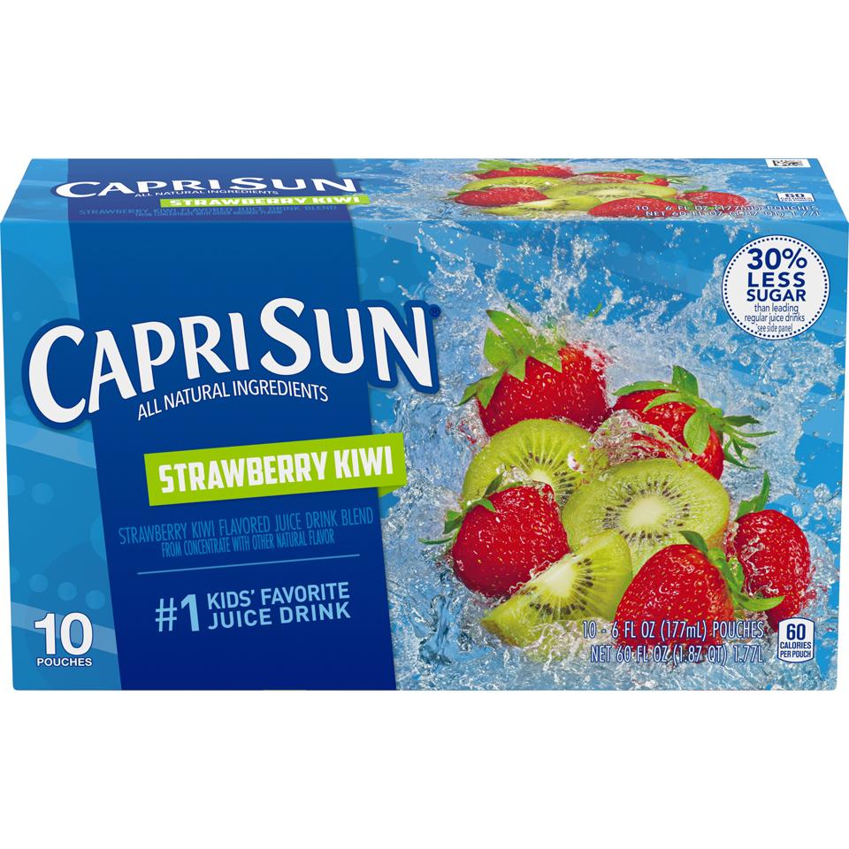 Capri Sun Straw Kiwi 25%L