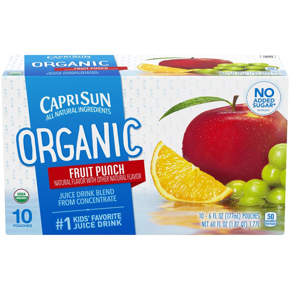 Capri Sun Organic Fruit Punch Juice