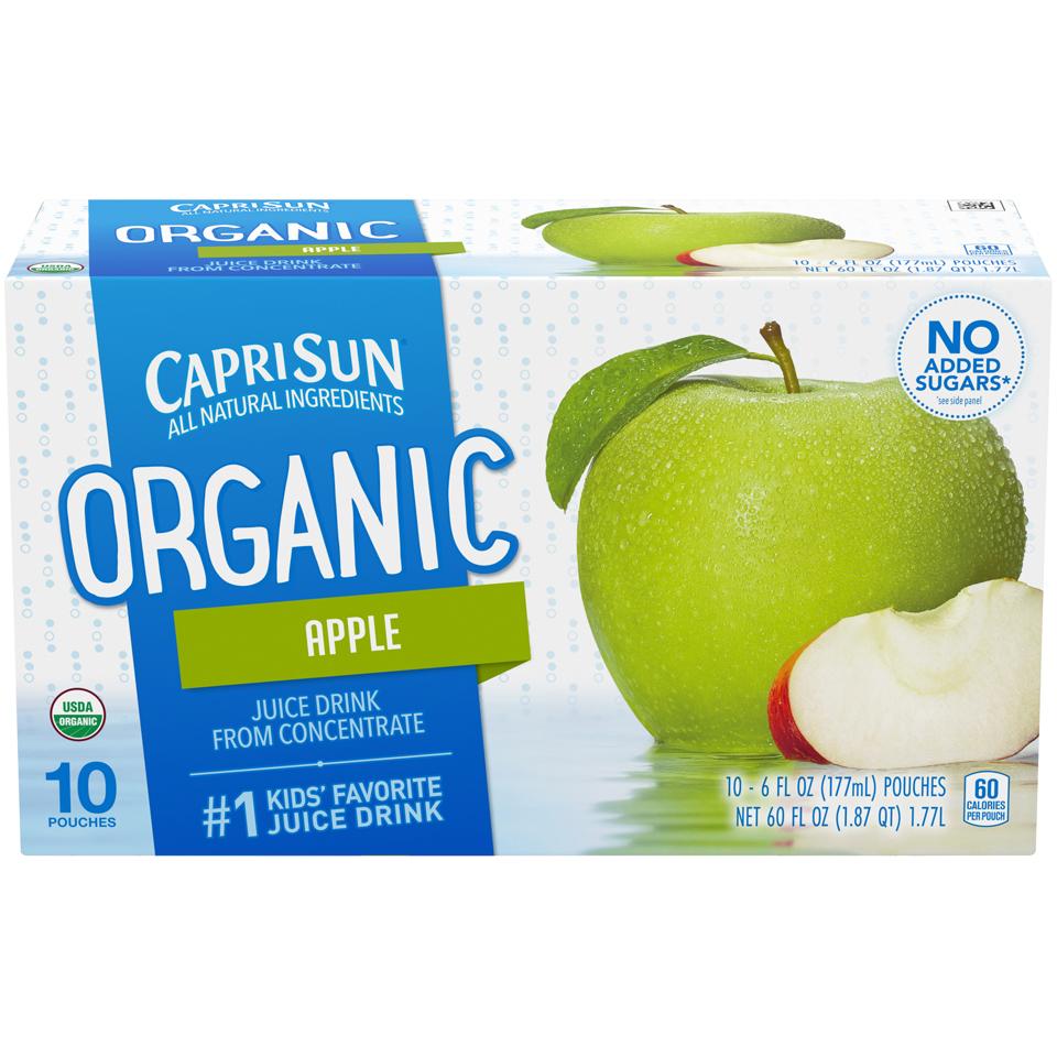 Capri Sun Organic Caprisun Apple Juice