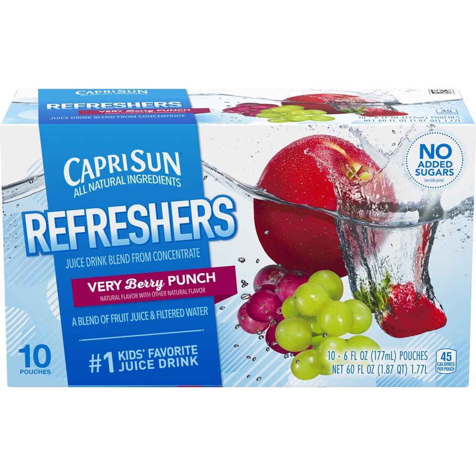 Capri Sun Fruit Refreshers Very Berry Punch