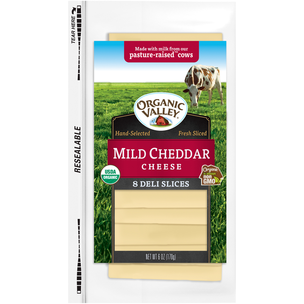 Organic Valley Mild Cheddar Cheese Slices