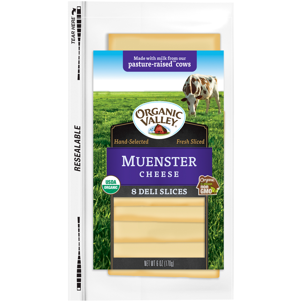 Organic Valley Muenster Cheese Slices