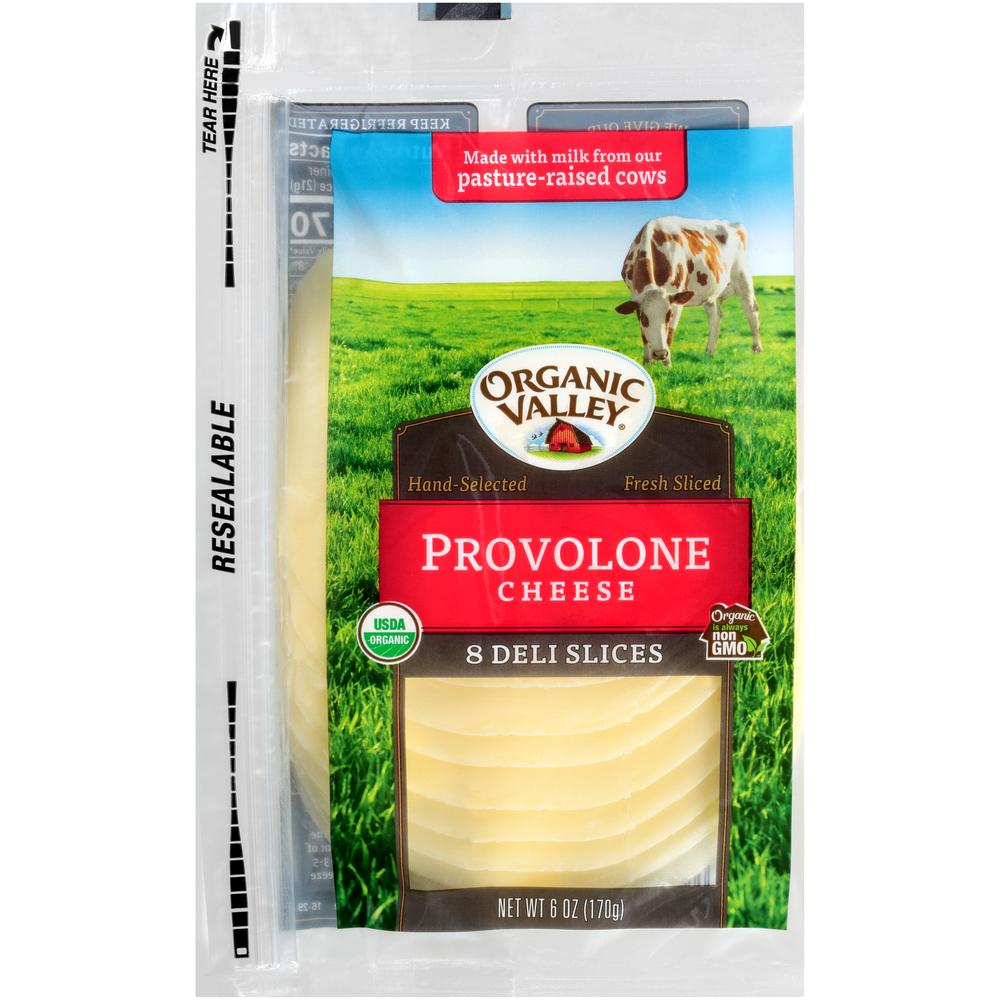 Organic Valley Provolone Cheese Slices