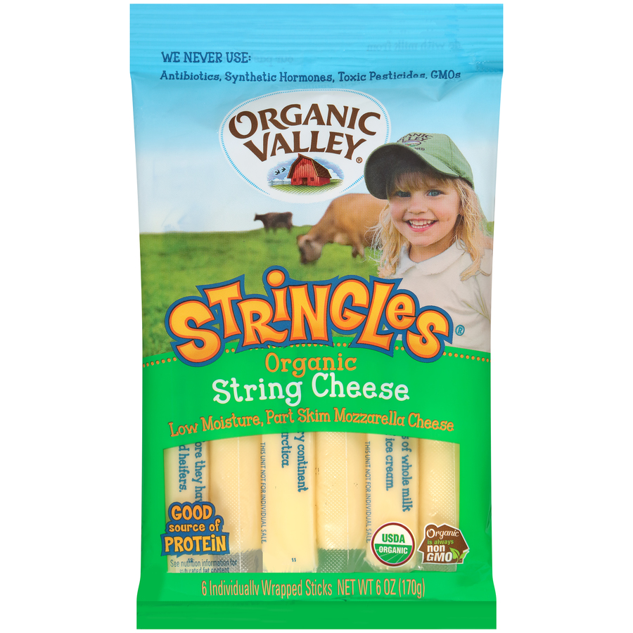Organic Valley Organic Mozzarella String Cheese