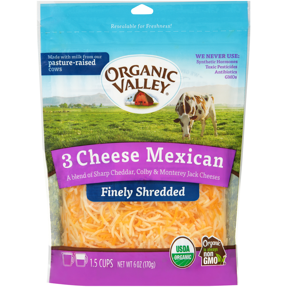Organic Valley Shredded Mexican Cheese