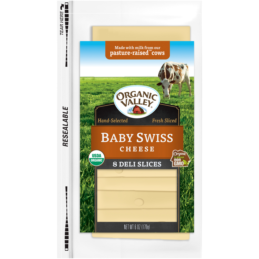 Organic Valley Baby Swiss Cheese Slices