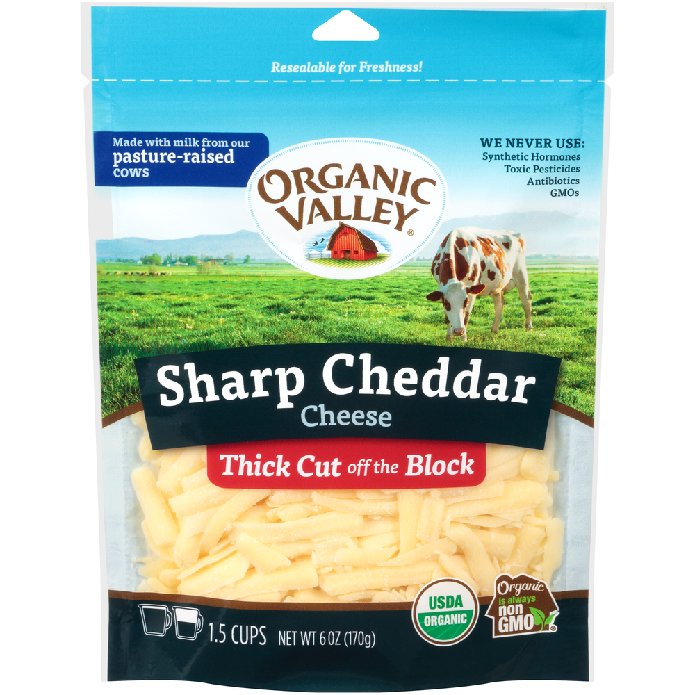 Organic Valley Shredded Sharp Cheddar