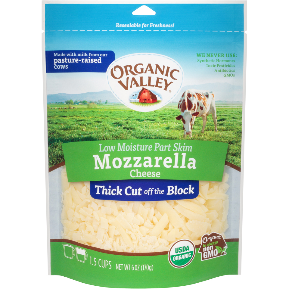 Organic Valley Thick Shred Mozzarella