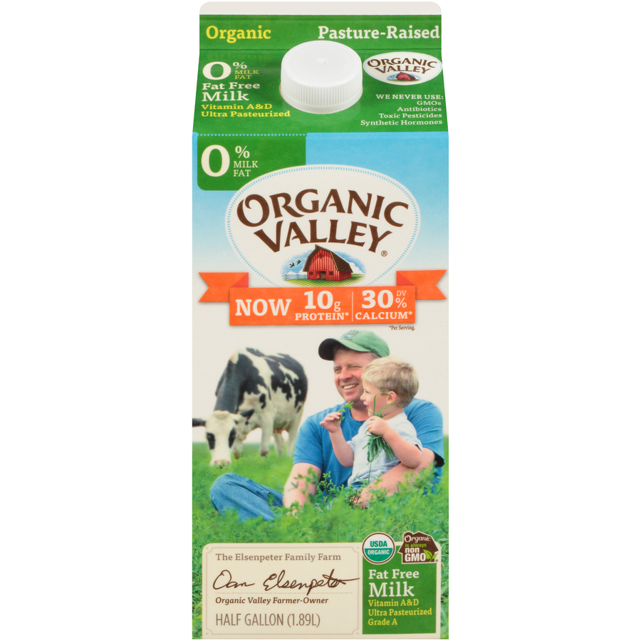 Organic Valley Non Fat Milk