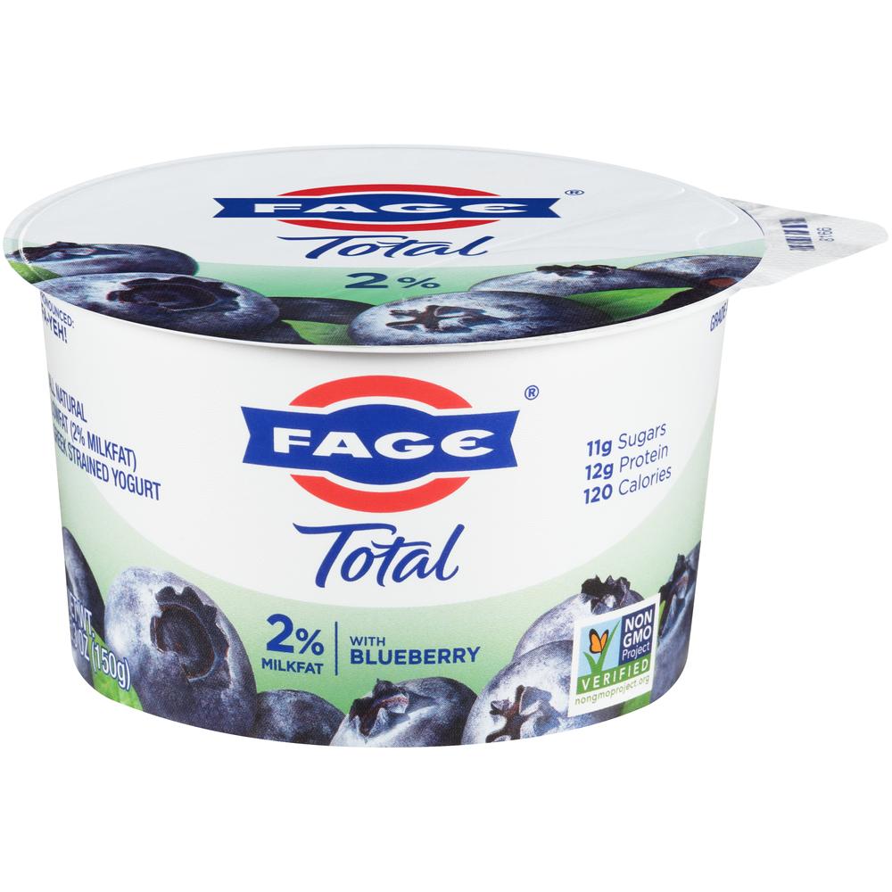 Fage 2% yogurt with Blueberry